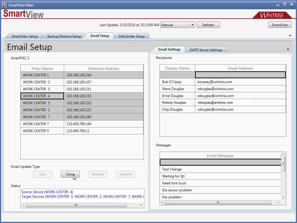 SmartView Email Setup