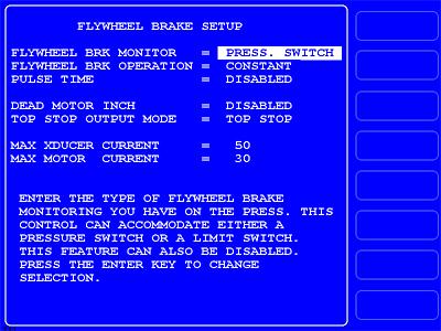 WPC 2000 - Option 2 Flywheel Brake Control Setup